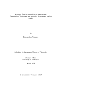 Phd thesis on tourism marketing