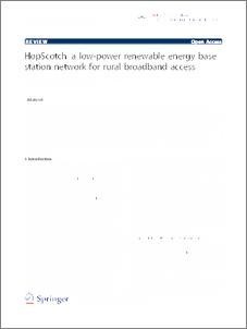 HopScotch - a low-power renewable energy base station