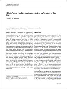 Effect of Silane coupling agent on mechanical performance of glass