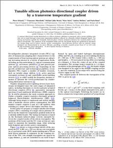 Tunable silicon photonics directional coupler driven by a