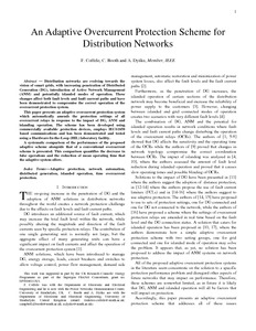 An adaptive overcurrent protection scheme for distribution