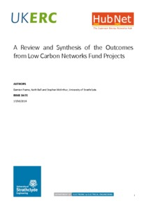 A Review and Synthesis of the Outcomes from Low Carbon