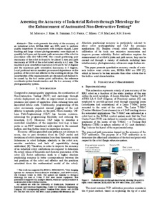 Assessing the accuracy of industrial robots through