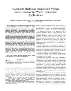 A modular multilevel based high-voltage pulse generator for water