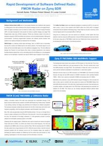 Rapid development of software defined radio : FMCW radar on Zynq SDR
