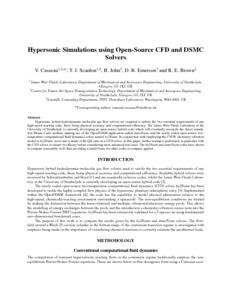 Hypersonic simulations using open-source CFD and DSMC