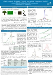 Kinetic analysis of biomass pyrolysis with a peak