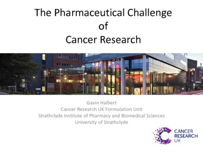 The pharmaceutical challenge of cancer research - Strathprints