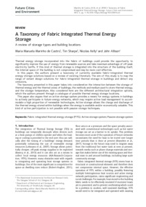 A taxonomy of fabric integrated thermal energy storage : a