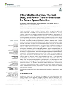 Integrated mechanical, thermal, data and power transfer