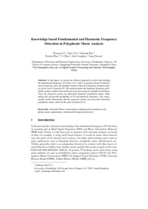 Knowledge based fundamental and harmonic frequency detection