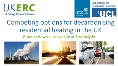 Competing options for decarbonising residential heating in