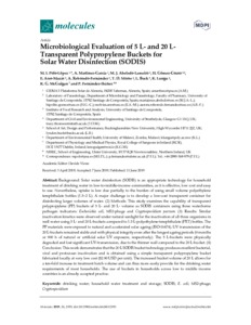 Microbiological evaluation of 5 L - and 20 L transparent