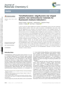 Tetrathiafulvalene-oligofluorene star-shaped systems : new