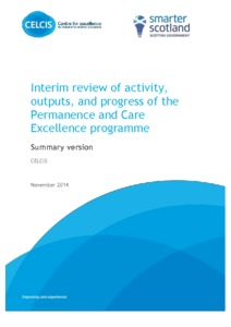 Interim Review of Activity, Outputs, and Progress of the
