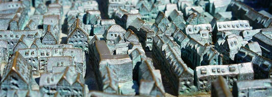 Picture of model of urban architecture