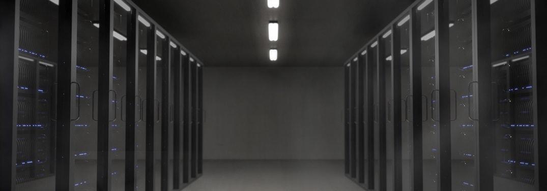 Picture of server farm and IT infrastructure
