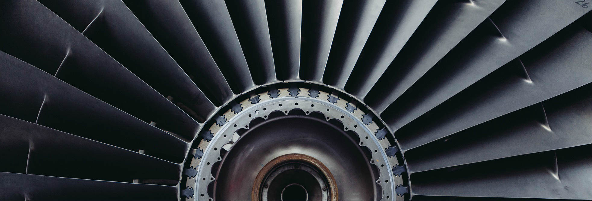 Picture of aircraft jet engine