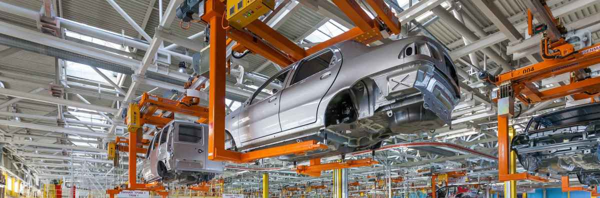 Picture of automobile manufacturing plant